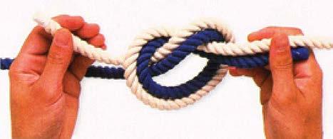 Рис.2.12. «Усиленный узел» из двух веревок