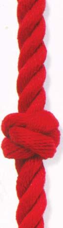 Рис.2.13. Простой узел, реализованный на толстой веревке (канате)