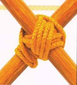 Рис.2.16. Пример того же узла с многократным обвиванием веревки вокруг шестов