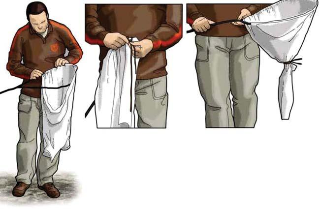 Рис.3.3. Приспособление из одежды для создания сачка